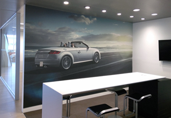 Automotive Car Dealership Visual Graphic Solutions Banners Fabric Frames Window Graphics New Car Branding