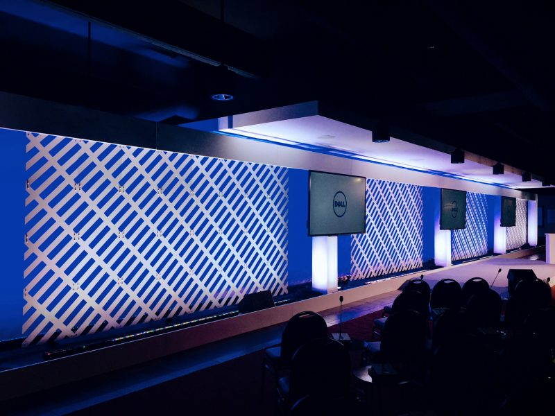 dell white fabric wall