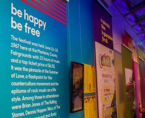 Super Color Digital Monterey International Pop Festival | Pop-Up Museum 1967 | Exhibit | Vinyl Walls