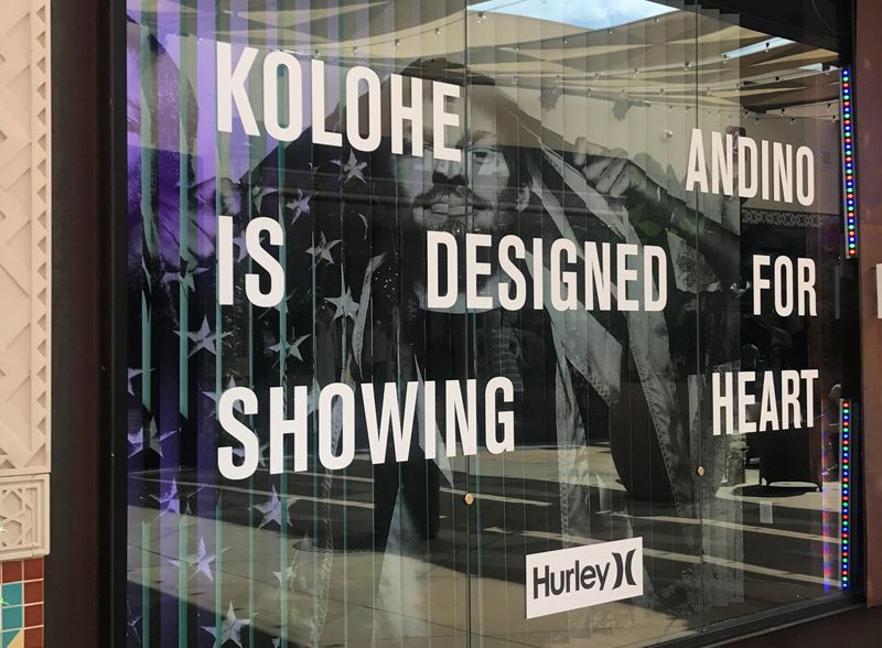 Hurley Nike SB Retail Store Graphics Large Format Dimensional Wallpaper Creative Design Window Decal Storefront Product Displays