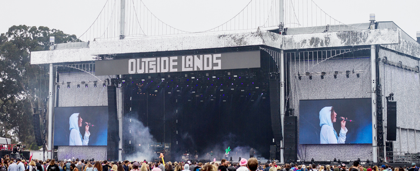 Outside Lands Music Festival Super Color Digital Large Format Printing Concert Graphics Wallpaper DImensional Timeline Fabric Banners Outdoor Interior Design