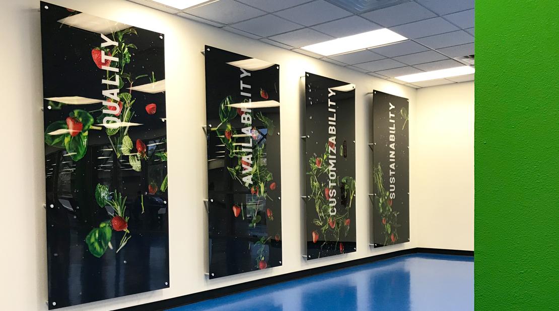 Interior Design Vinyl Wallpaper Plexi Panels Print Color Corporate Office Space Large Format Visual Communications Graphics Decal Branding Marketing Production Super Color Digital
