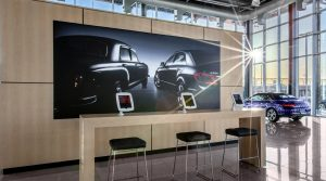 Turn Key Interior Design Visual Solutions LED Light Box Framed Graphics SEG Fabric Printing Super Color Digital Mercedes