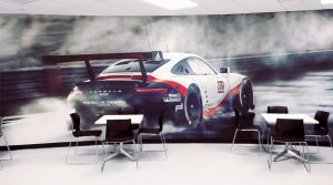 Turn Key Interior Design Visual Solutions Vinyl Wallpaper Printing Super Color Digital Porsche