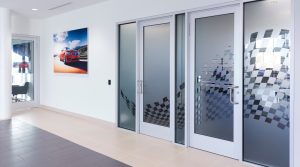 Turn Key Interior Design Visual Solutions Privacy Glass Framed Graphics SEG Fabric Printing Super Color Digital BMW
