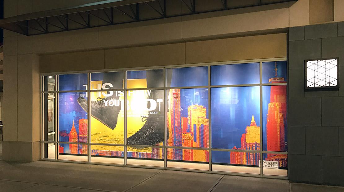 Holiday Visual Capabilities Retail Window Display Wallpaper Vinyl Graphics POP Rollout
