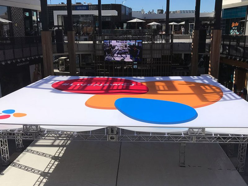 Custom Large Format Visual Solution Canopy Graphics fabrication