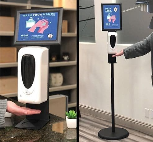 Touchless Freestanding and Desktop Hand Sanitizer Stations Safety Products Super Color Digital