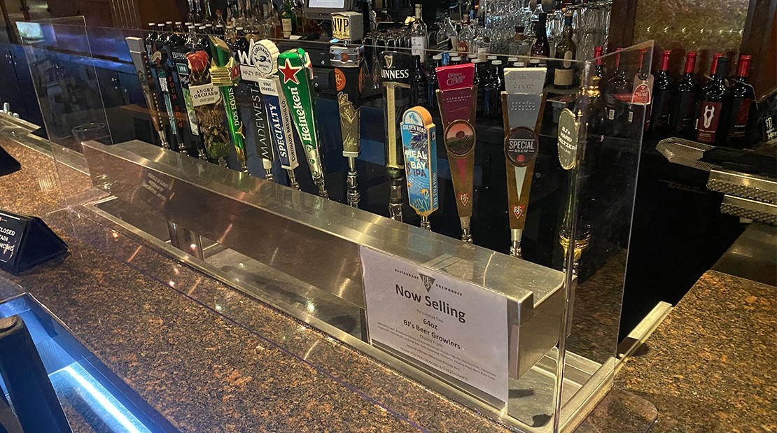 Grants For Orange County Restaurants COVID-19 Social Distancing Decals To-Go Bar top Barriers