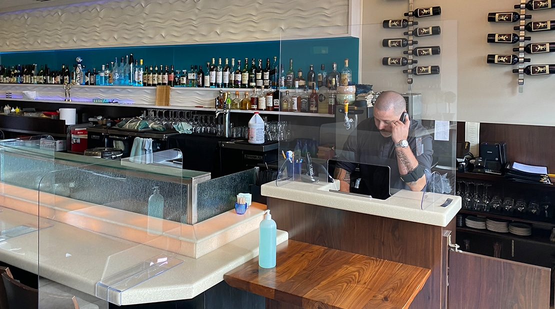 Grants For Orange County Restaurants COVID-19 Social Distancing Decals To-Go Barriers