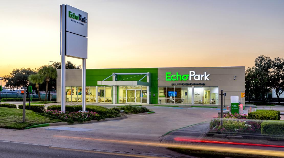 large format visuals interior design brand identity echo park automotive dealership